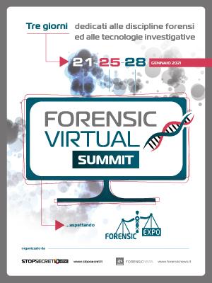 21, 25 e 28 gennaio 2021: Forensic Virtual Summit