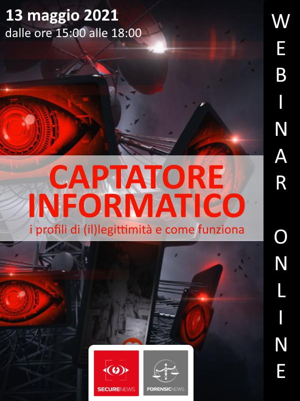 13/05/2021 - Webinar formativo online