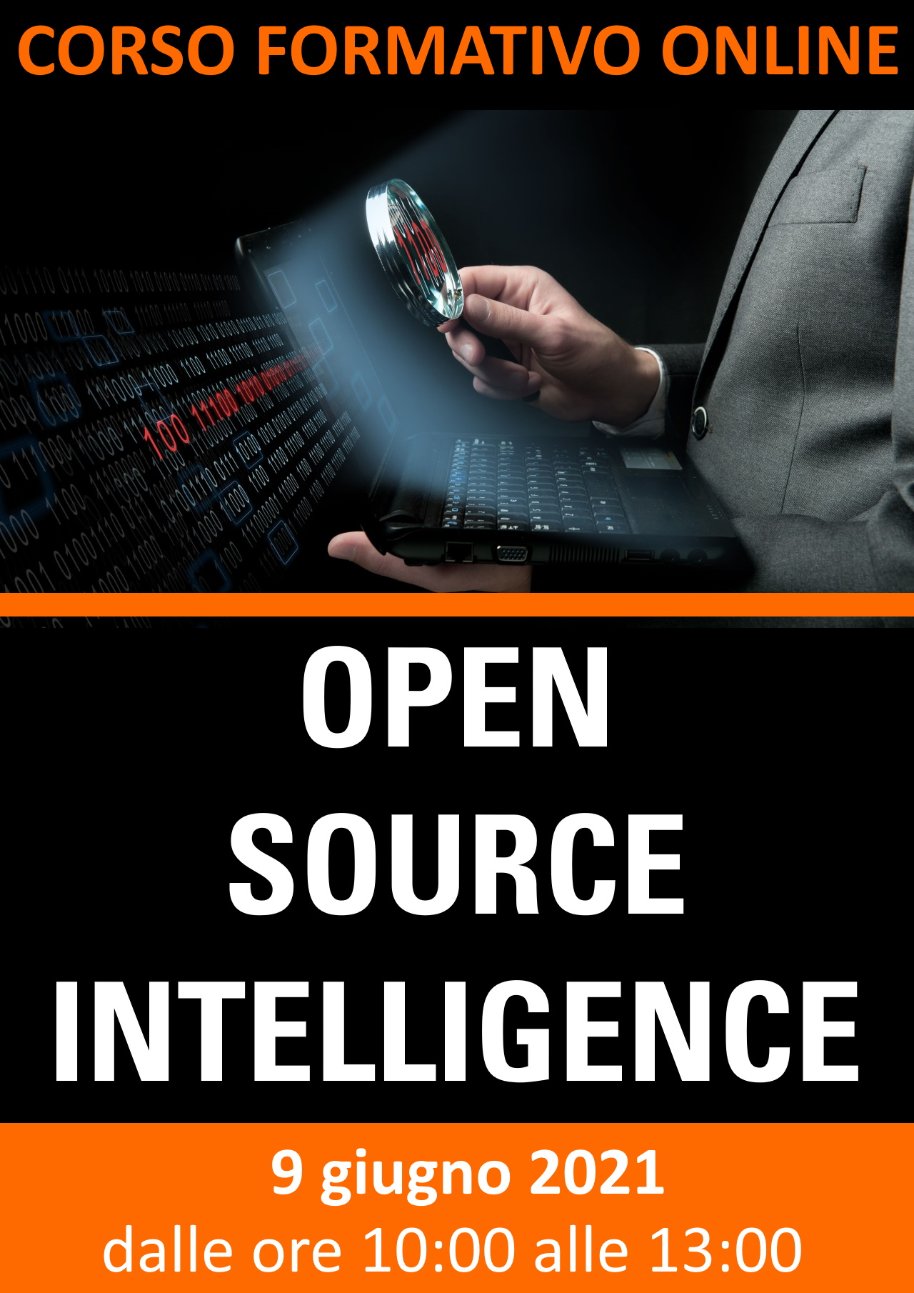 Corso formativo online: OSINT - OPEN SOURCE INTELLIGENCE
