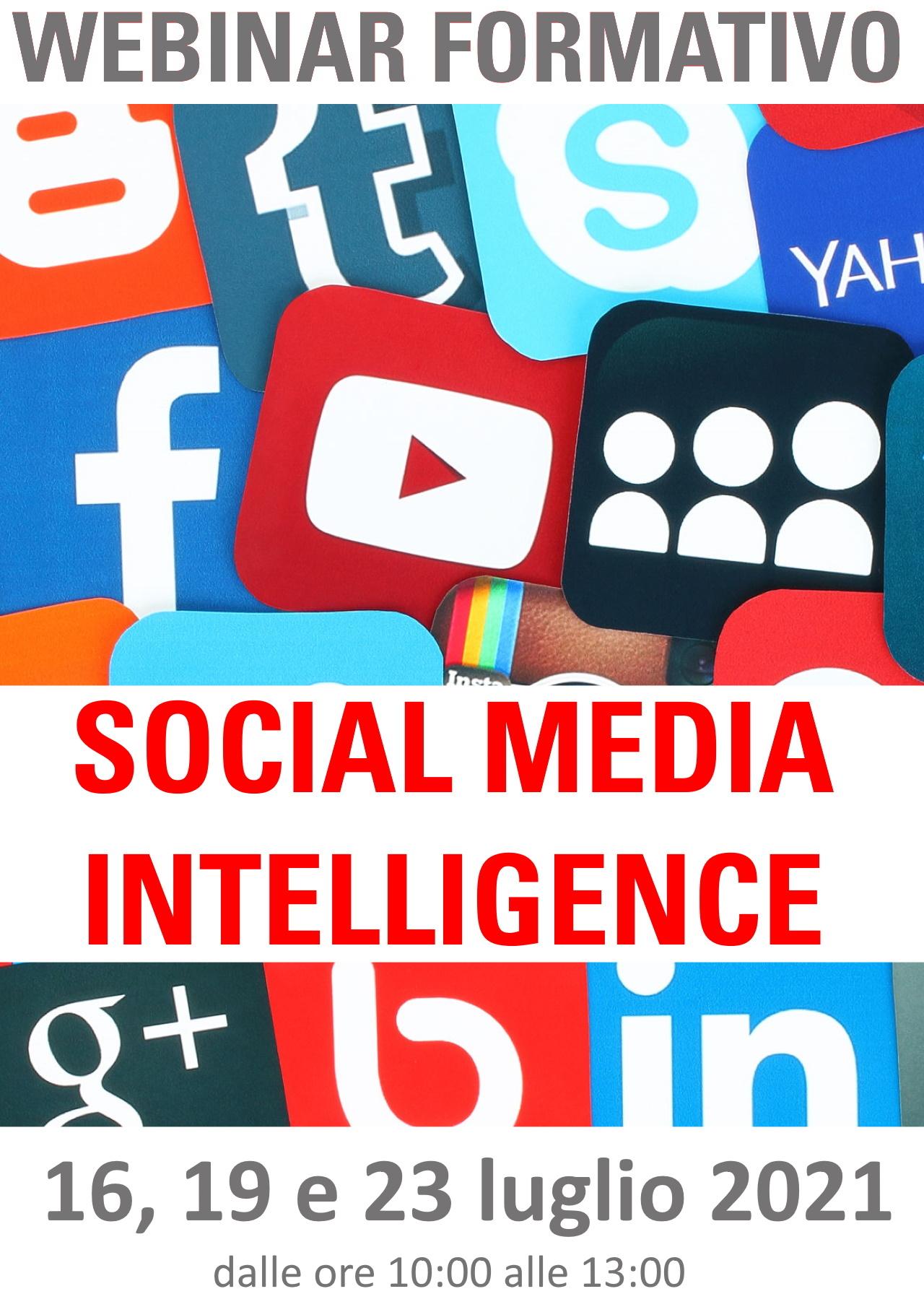Corso di formazione SOCIAL MEDIA INTELLIGENCE
