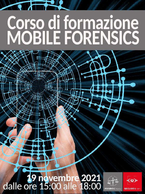 Mobile Forensics - Corso di formazione